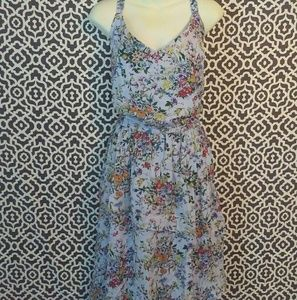 A New Day Blue Floral Cross Strap Dress XXL NWT